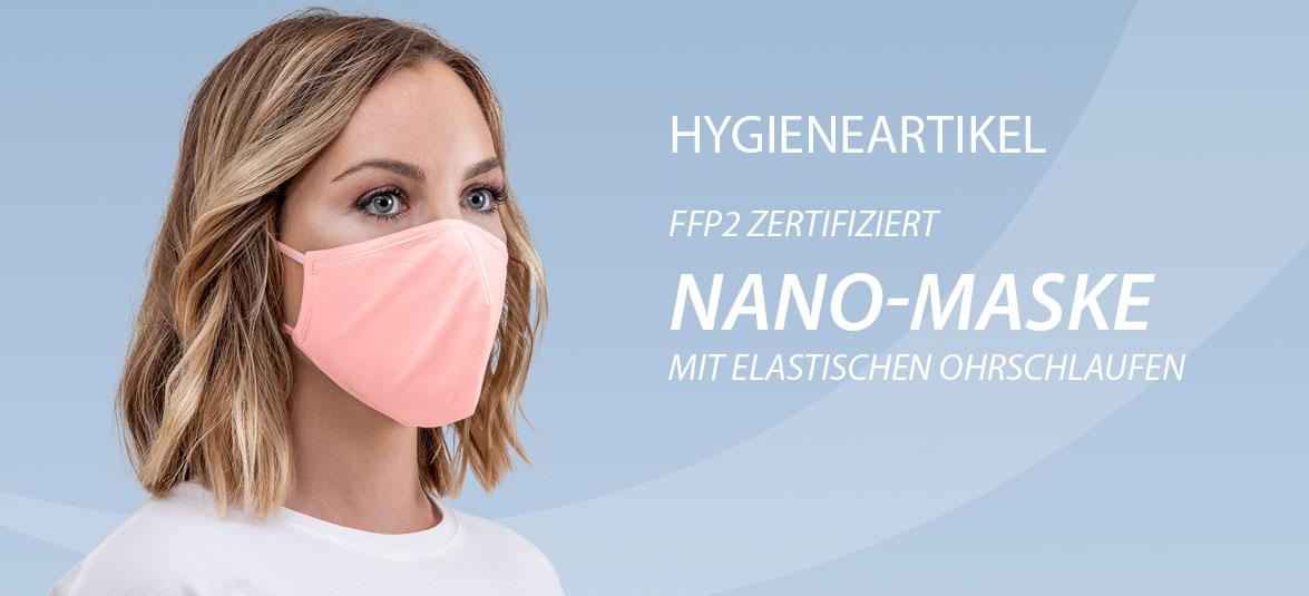 Hygieneartikel Nano-Maske mit Ohrschlaufen