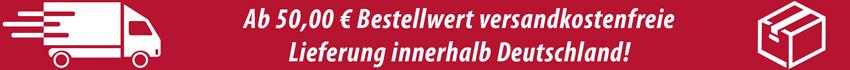 Kostenloser Versand in Deutschland ab 50€