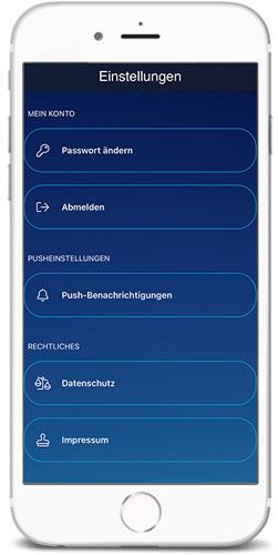 braintronics® II App Einstellungen oben