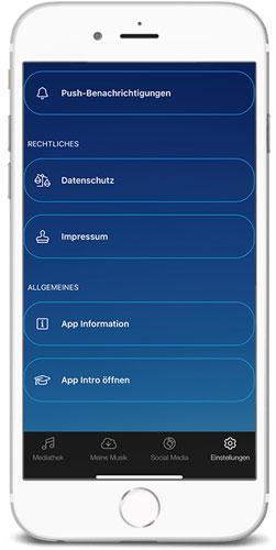 braintronics® II App Einstellungen unten