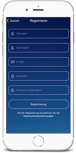 braintronics® II App Registrierung